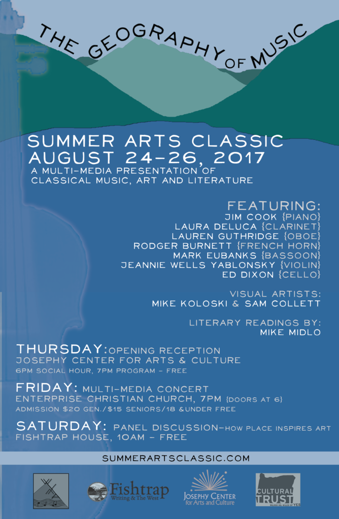 Summer Arts Classic: The Geography of Music | Wallowa Valley